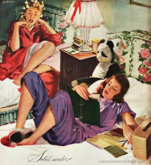 textiles pacific Sheets Ad 1946 teen girls illustration