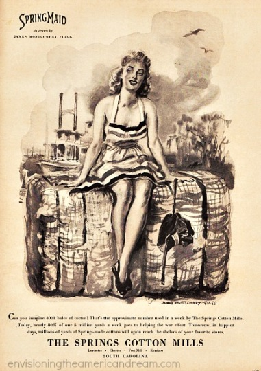 textiles springmaid 1943 James Montgomery Flagg