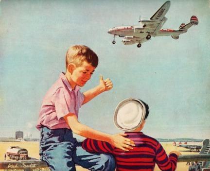 vintage Travel airline TWA ad illustration