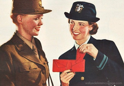 WW2  women soldiers illustration
