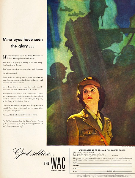 WWII Army Wacs Ad 1944