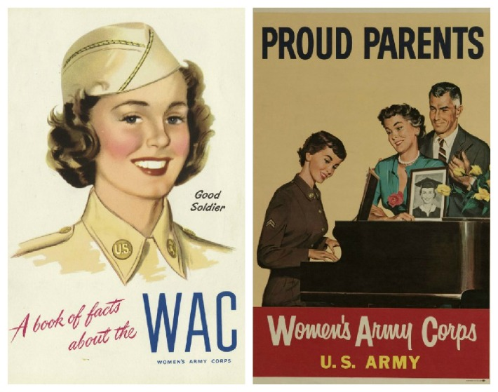 WWII WACS Posters women soldiers illustration