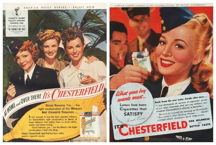 WWII Women ads military Hollywood movie stars