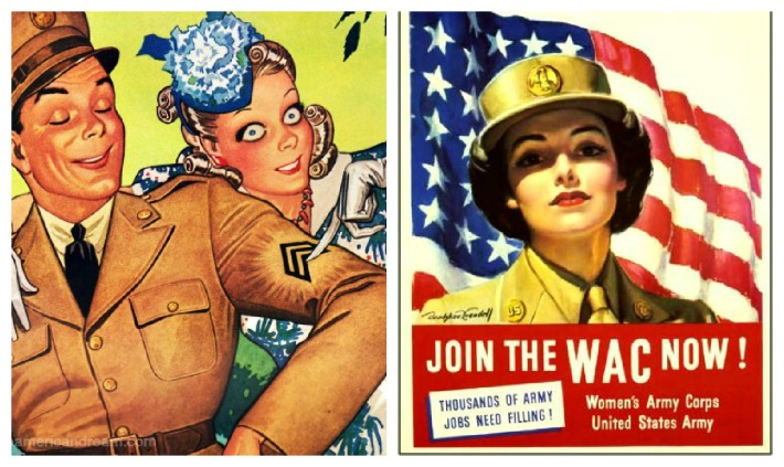 WWII Women WAC Enlist illustration soldier
