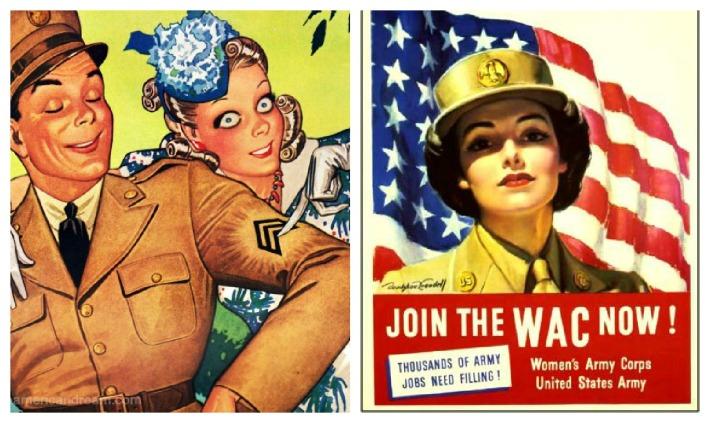 WWII Women WAC Enlist illustration soldier