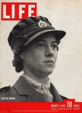 WWII Women British soldier
