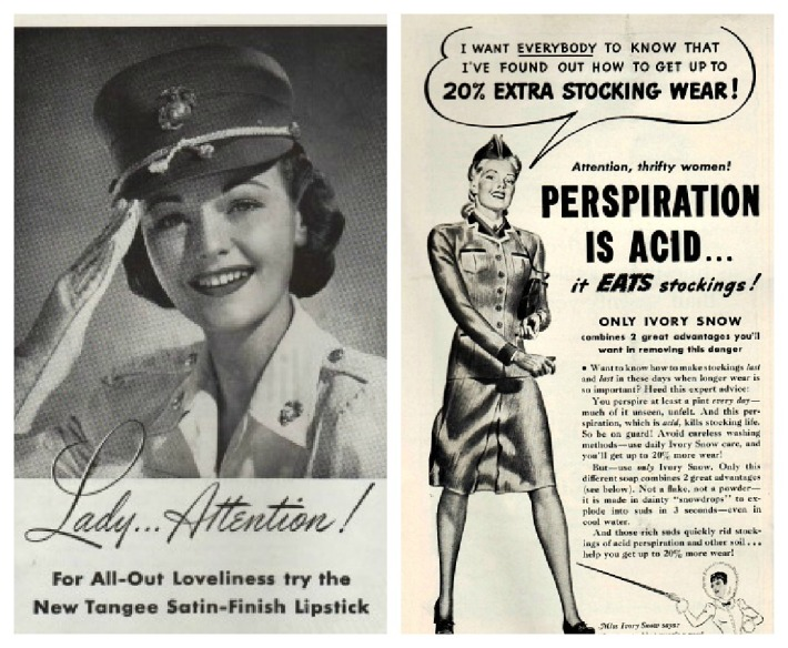 vintage ads WWII Women military ads