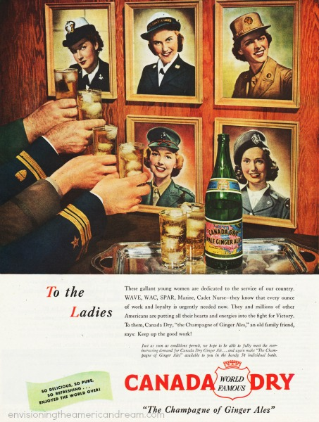WWII women military advertising