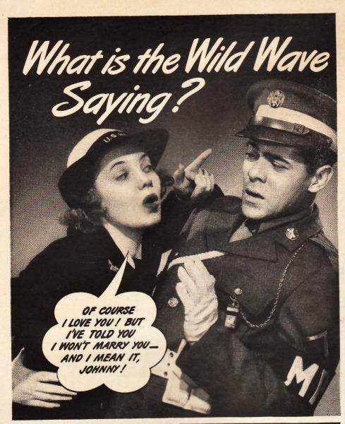 WWII Women waves advertising