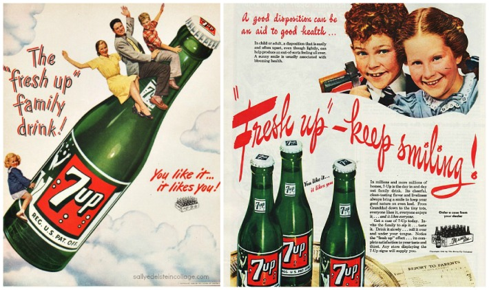 beverages 7up ads family cheerful disposition
