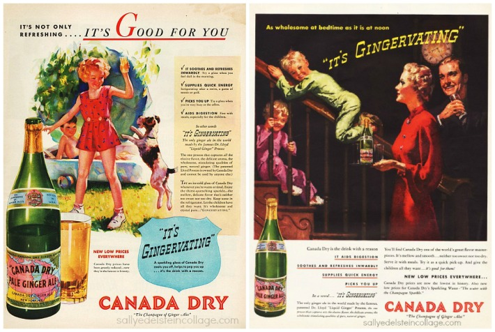 vintage beverages ads canada dry soda 1930s