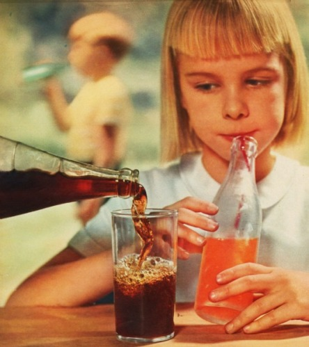 girl drinking soda