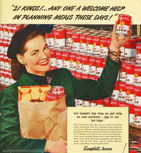 CampbellsSoup ad Housewife shopping 1940s
