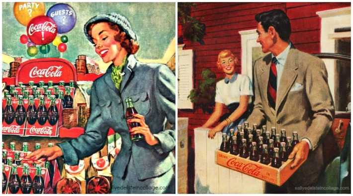 Coke ad shopping 1949