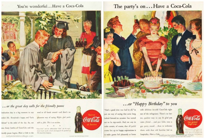 vintage Coke ads celebrations 1940s