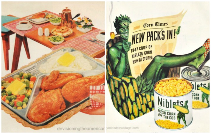 food TV dinner jolly green giant corn ad