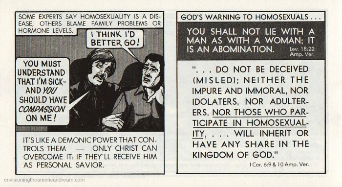 "Vintage Comic 1972 ""Gay Blade"" Chick Publications homophobic comic"
