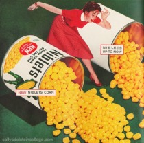 vintage ad Green Giant corn cans housewife 1950s