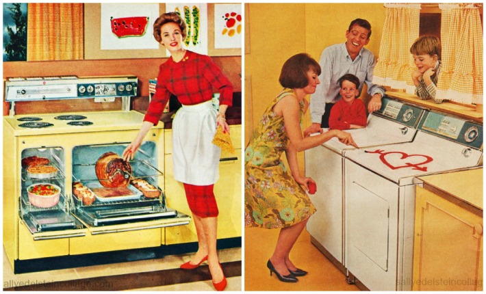 1950s Housewives chores cooking laundry
