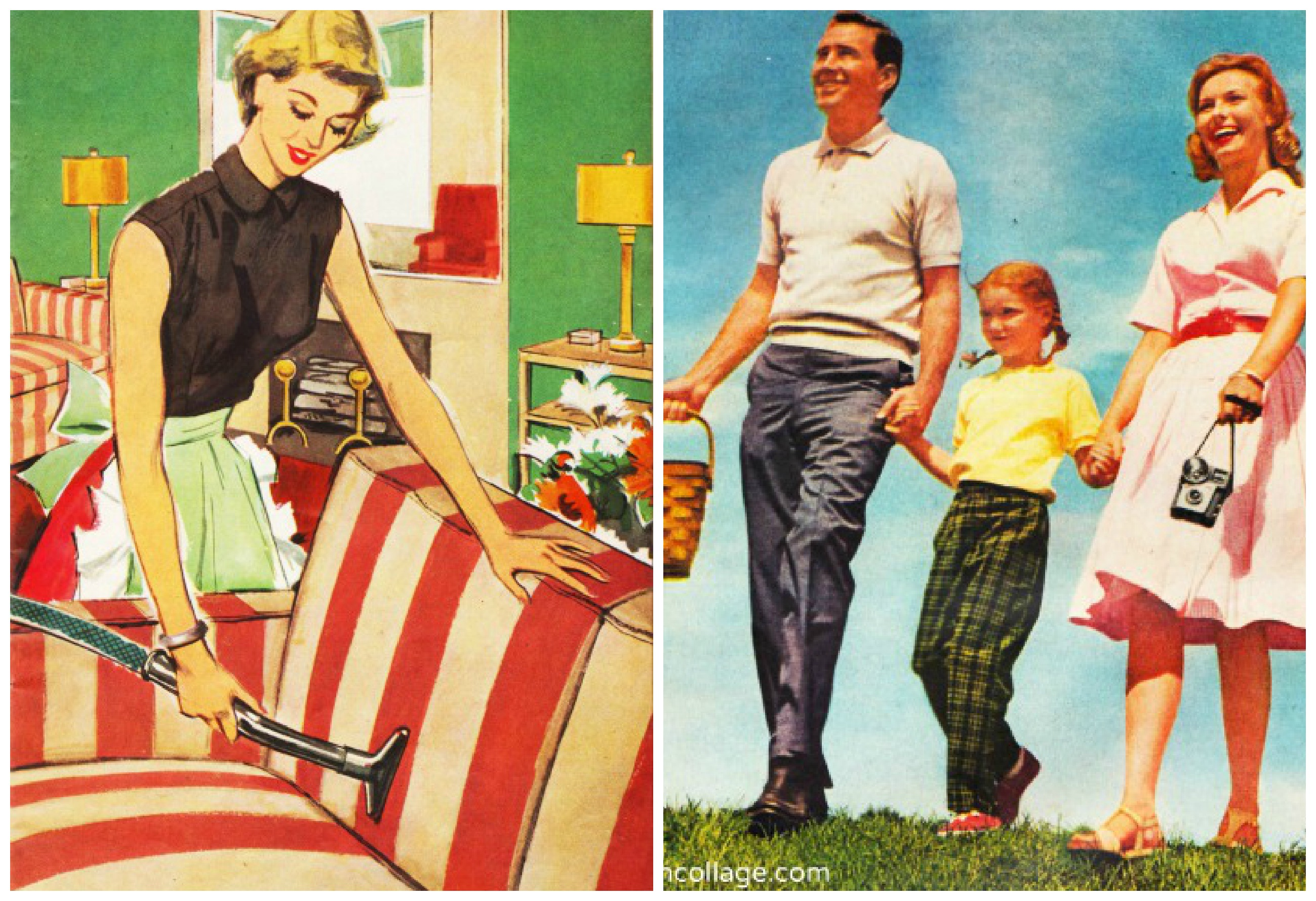 Vintage Illustration Envisioning The American Dream