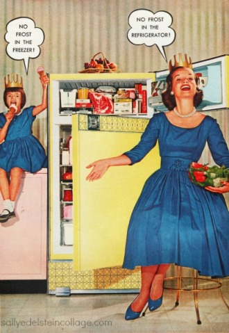 vintage ad refrigerator mother daughter