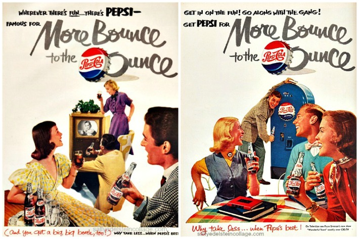 Vintage Pepsi Cola Ads 1950s teenagers