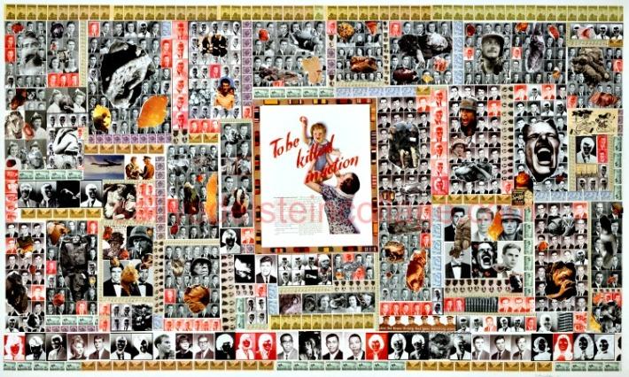 art collage sally edelstein war
