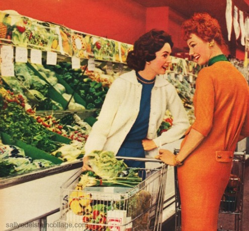 shopping supermarket housewives1950s