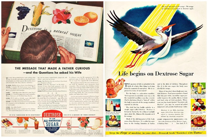 sugar dextrose ads 1940s