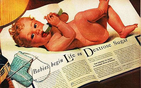 sugar  baby ad illustration 1940s