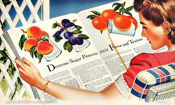 sugar dextrose advertising 1940s illustration woman