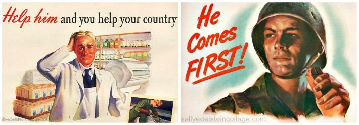 WWII Food ads soldier illustration