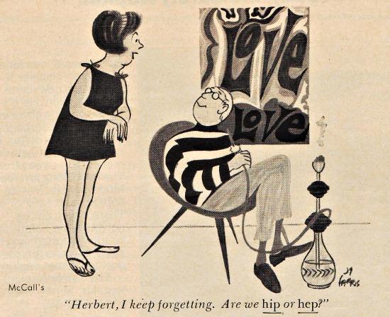 1960s cartoon hip