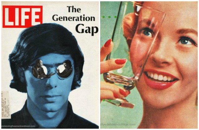 1960s generation Gap 1950s housewife Life Magazine cover