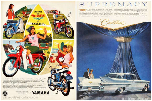 1960s motorcycle cadillac vintage ads
