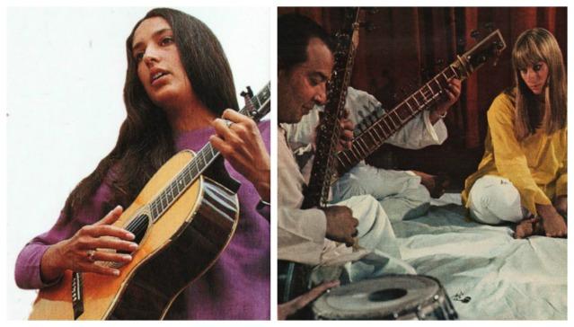 1960s Music Joan Baez Sitar
