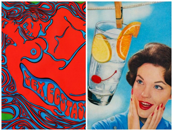 1960s psychedelic illustration 1960 housewife