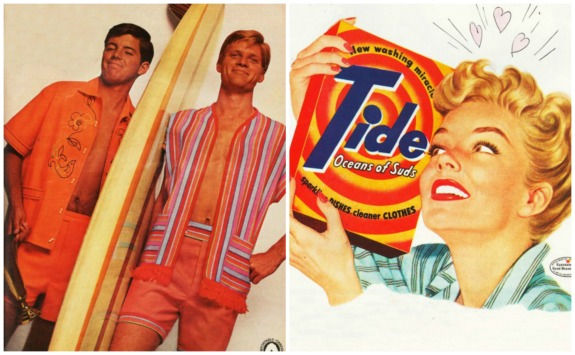 1960s surfs up Tide ad housewife