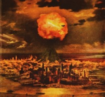 illustration atomic blast NYC 1950s