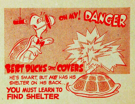 duck and cover Bert the Turtle cartoon booklet 1950s