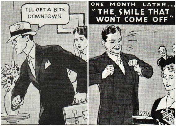 Food 1930s Cartoon husband wife