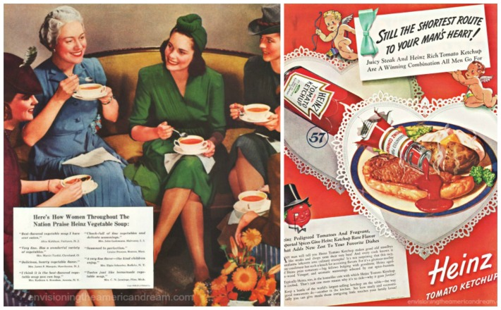 Food 1940  Heinz ads Housewives