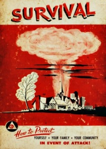 nuclear attak booklet 1950s