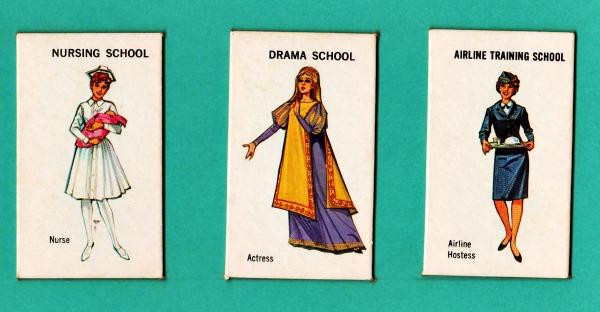 1960s toys games career girls nurse, stewardess, actress