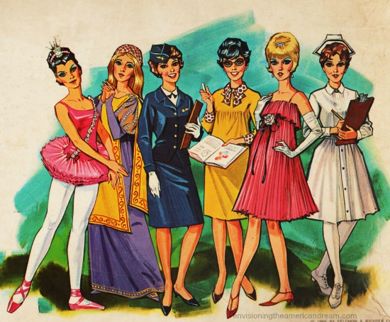 illustration  women careers 1960s