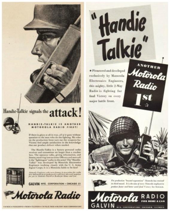 WWII Motorola Radio Ads soldiers