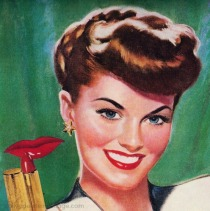 vintage illustration woman beauty