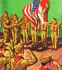 vintage illustration Boy Scouts 1960s