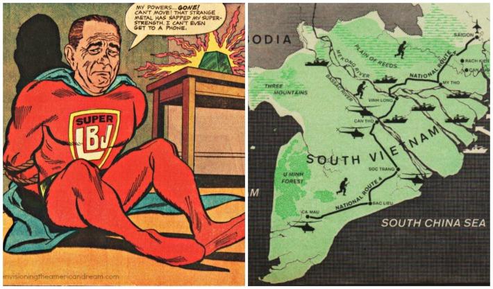 comic superlbj map of Southvietnam