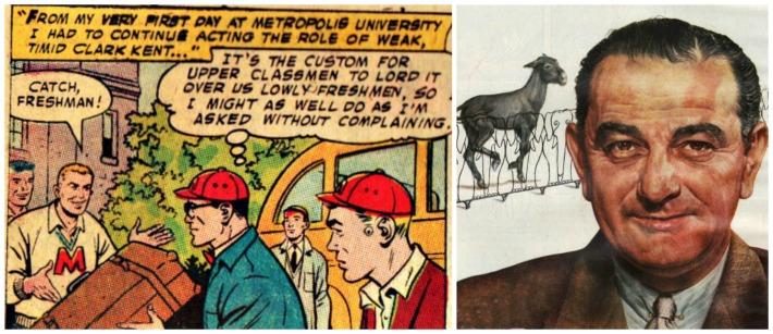 comic superman LBJ congress
